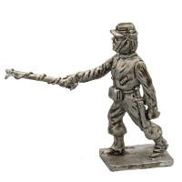 Garibaldi volunteer artilleryman , lighting the charge