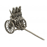 Limber for Piedmontese Artillery with three soldiers on