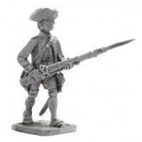Infantryman with Tricorn, attack march, 1773-1783