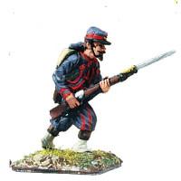 Zuavo with kepi in campaign uniform, attack march