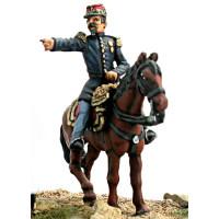 General Kanzler, mounted