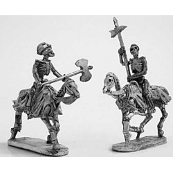 Skeleton cavalry with two hand weapons 1