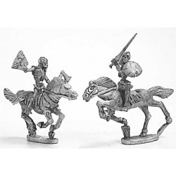 Skeleton cavalry with hand weapons and shield 2