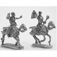 Skeleton cavalry with hand weapons and shield 3
