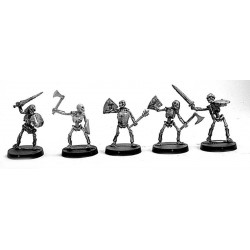Skeleton Warriors with shield and mixed weapons