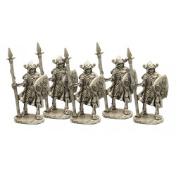 Skeletons with spear and shield
